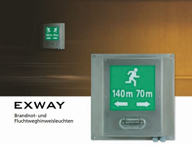 EXWAY – Emergency Fire & Escape-Route-Lighting